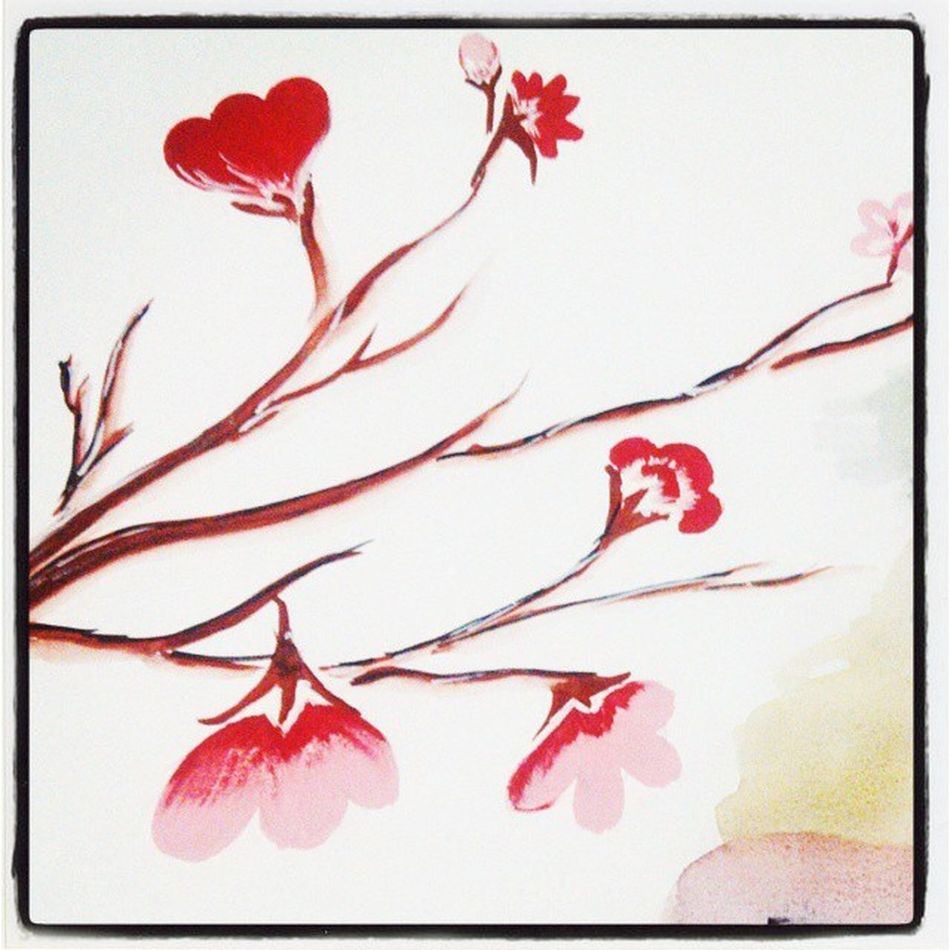 Painting Flowers Blossom Red Pink Bud Fpt 🎨😊
