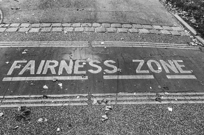 The world needs more such zones Battle Of The Cities Black & White Blackandwhite Fairness Fairness Zone Information Sign Road Marking Vienna