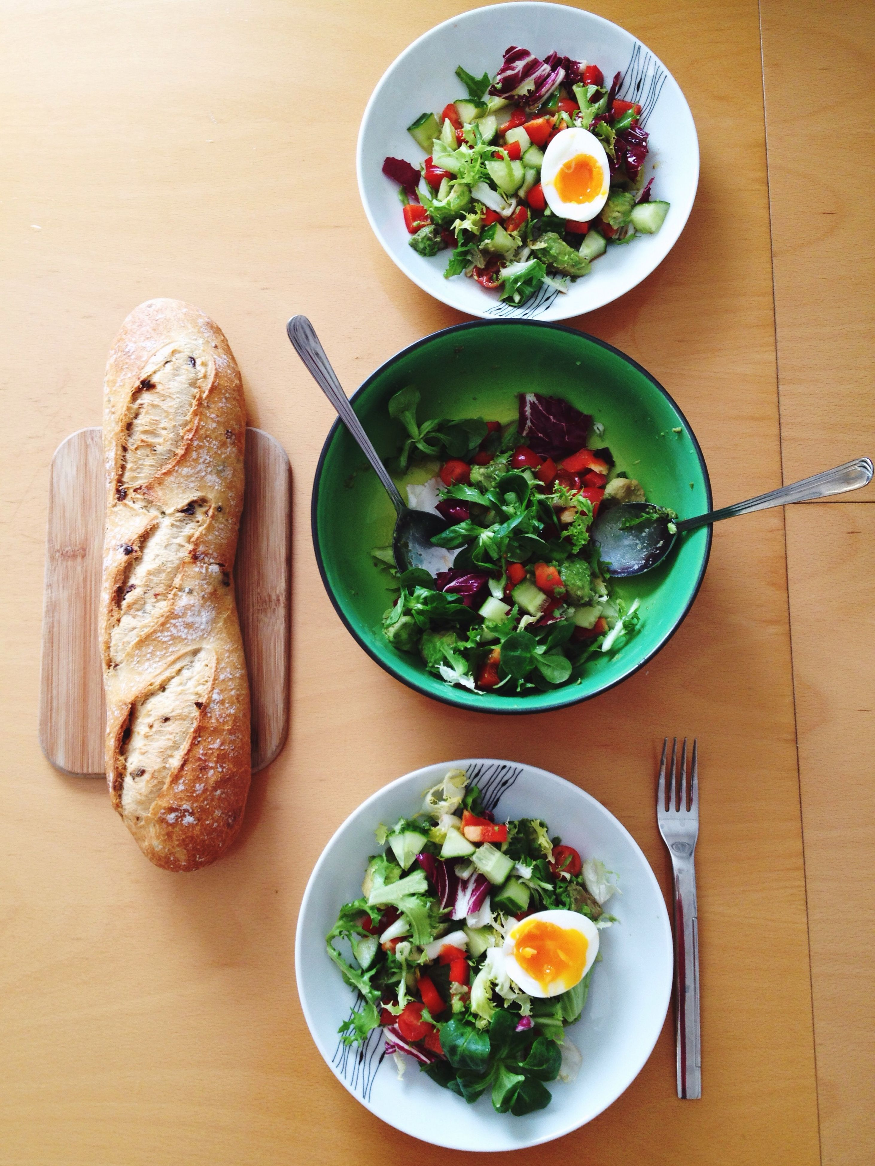 food and drink, food, indoors, freshness, ready-to-eat, table, plate, healthy eating, still life, meal, serving size, vegetable, salad, high angle view, directly above, bowl, meat, served, lunch, healthy lifestyle