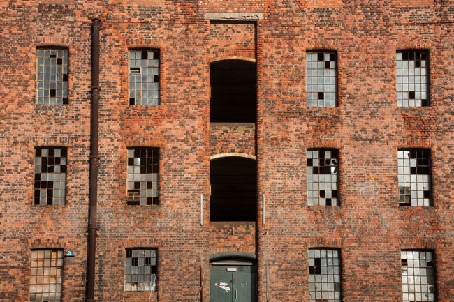Derelict Warehouse, Liverpool Abandoned Abandoned Buildings Architecture Brick Wall Broken Windows Building Exterior Built Structure Day Derelict Full Frame Glass Liverpool Liverpool Docks Low Angle View No People Old Outdoors Warehouse