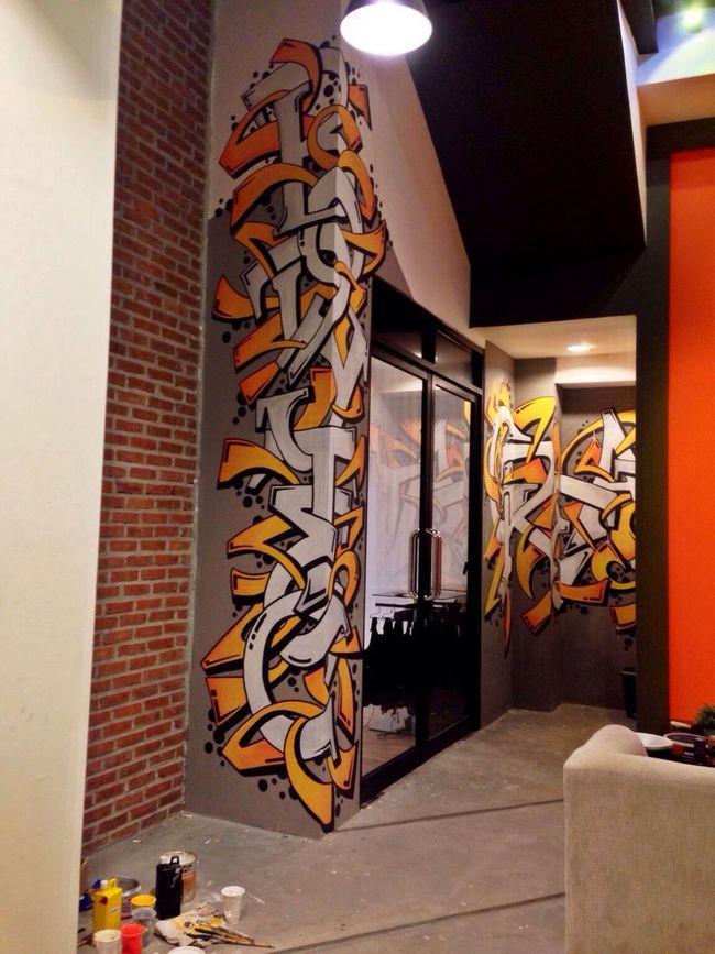 Graffiti Font Mural Art