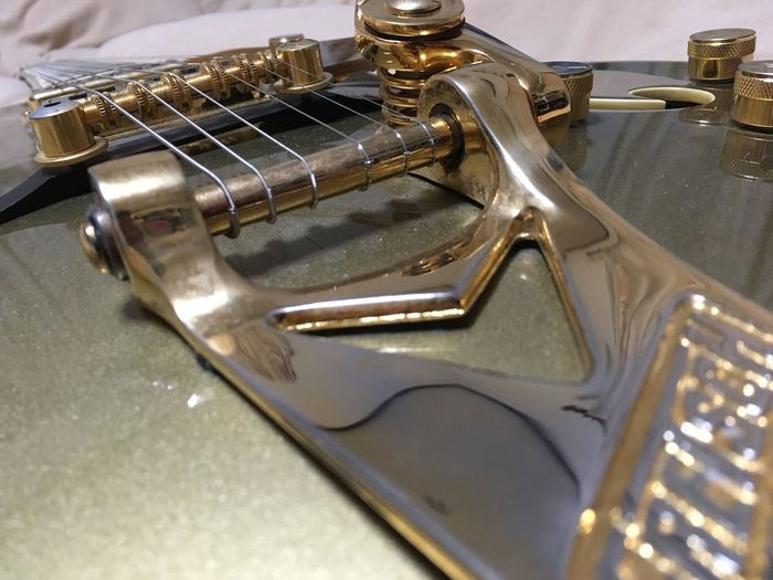 Guitar Gretch Guiter Gold Gold Guiter Music Gretch 6120 TakeoverMusic
