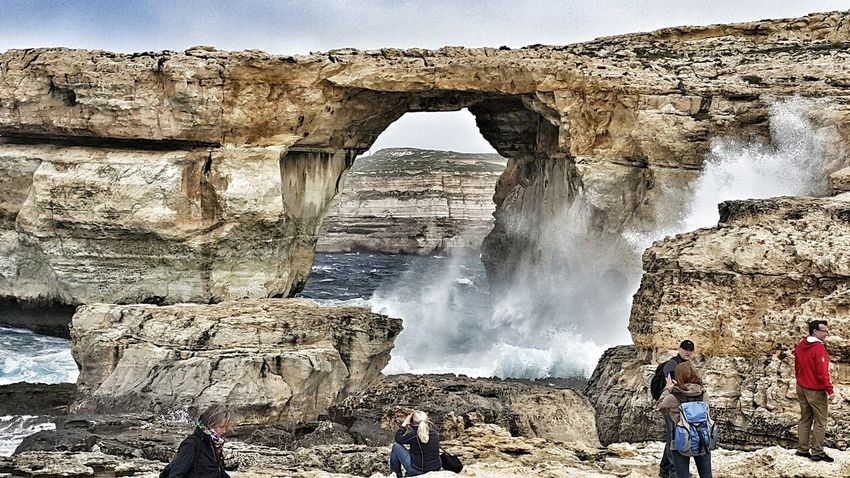 Gozo sea Waves Crashing Eye For Photography EyeEm Best Edits The Explorer - 2014 EyeEm Awards Azurewindow Outdoors Nature