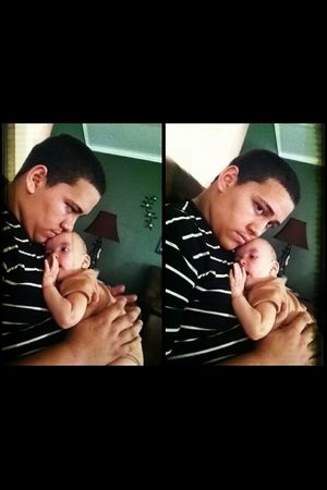 The babes with one off his twin boys❤ Gabdiel Ortiz❤