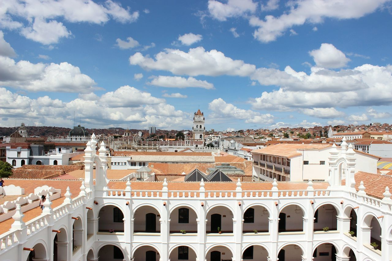 The beautiful town of Sucre - BoliviaEyeEmNewHere Town SucreBolivia City View  City Skyline Clouds And Sky