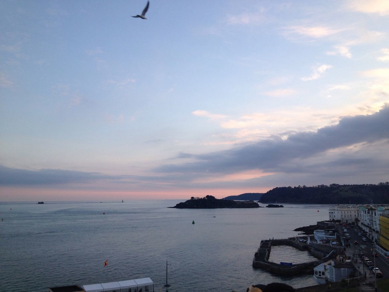 #Plymouth Harbour Plymouth Hoe Skyline Sunset Sunset_collection Beautiful Clouds And Sky