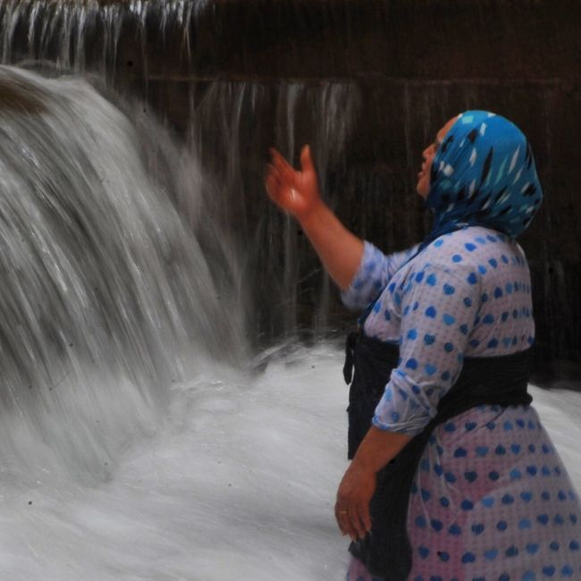 Waterfall Hand Women Helpful Photography Taking Photos People Photography