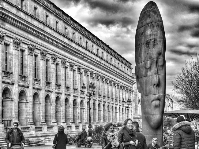 Bordeaux Showcase: February EyeEm Best Shots Bnw_collection Tadaa Community Eyemphotography Vscocam EyeEm Best Shots - Black + White Capture The Moment Sculpture Architecture_collection NEM Submissions Streamzoofamily