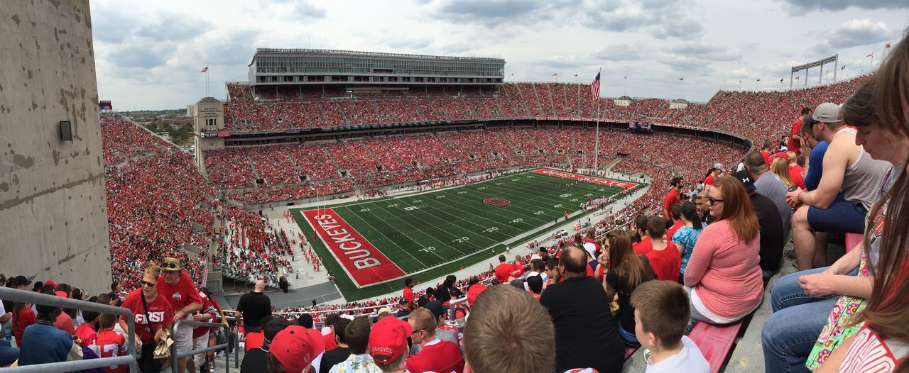 Watching Spring Practice w/Scarlet vs Gray. Collage Football Stadium Ohio State Buckeyes Theshoe IPhoneography Panorama