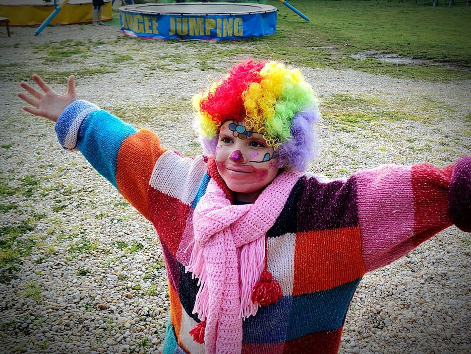Beautiful stock photos of clown,  12-13 Years,  Arms Outstretched,  Cheerful,  Child