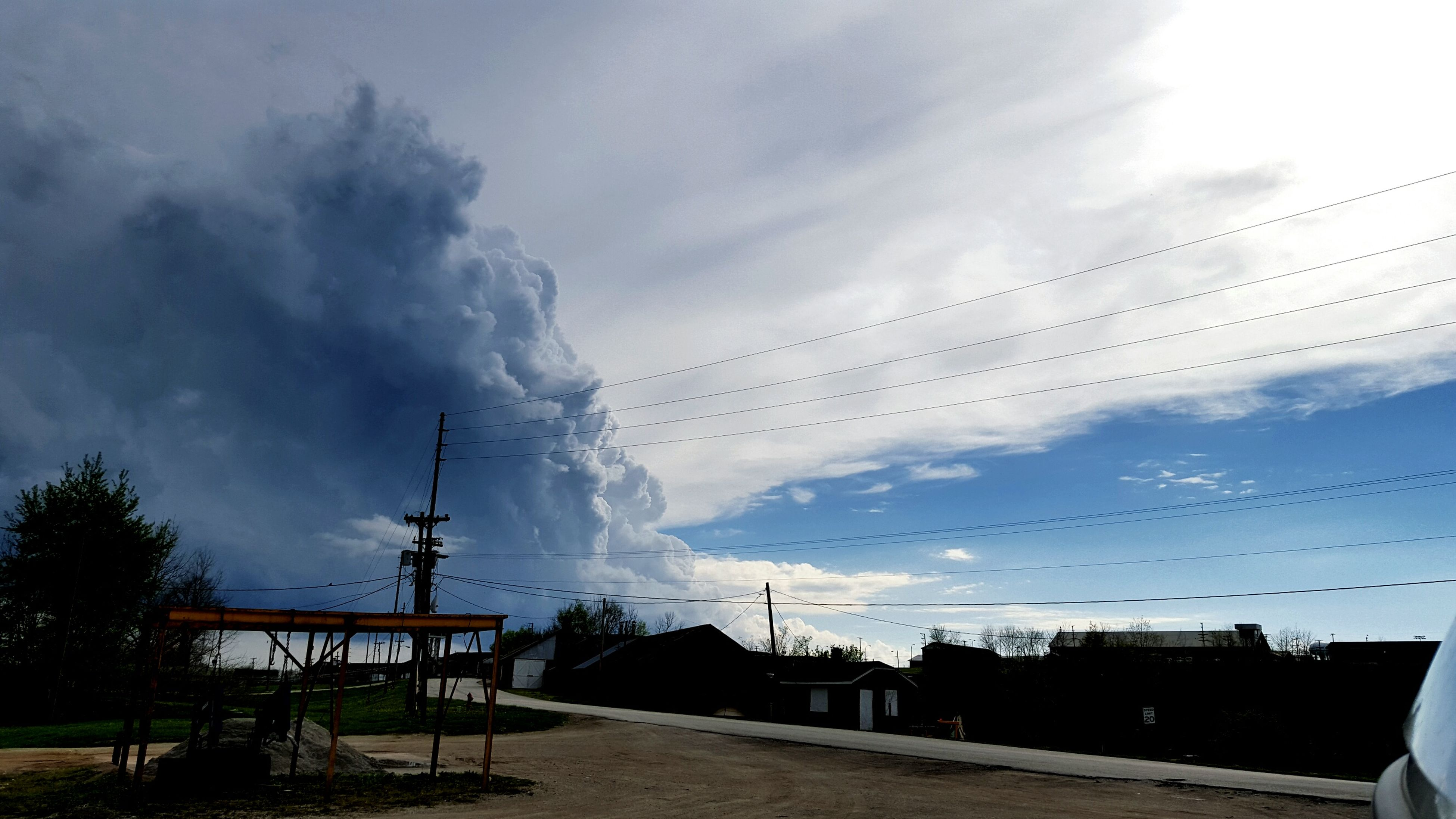 sky, cloud - sky, nature, electricity, no people, outdoors, tree, storm cloud, beauty in nature, power in nature, day