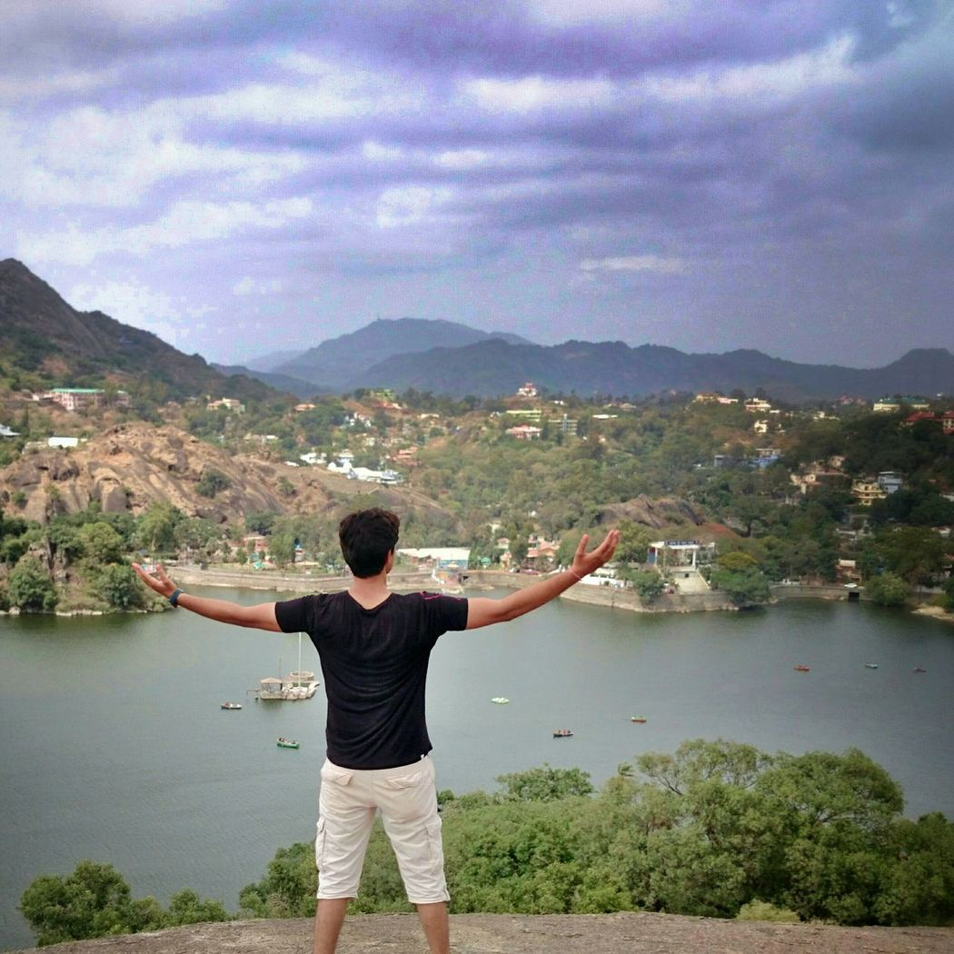 Another Old Pic  from my Trip at Mt. Abu from the Top of Toad Rock. Me Myself Pose View From The Top Mountain Mountains Mountain View Mountains And Sky Lake Lakeview NakkiLake Kinda Noob