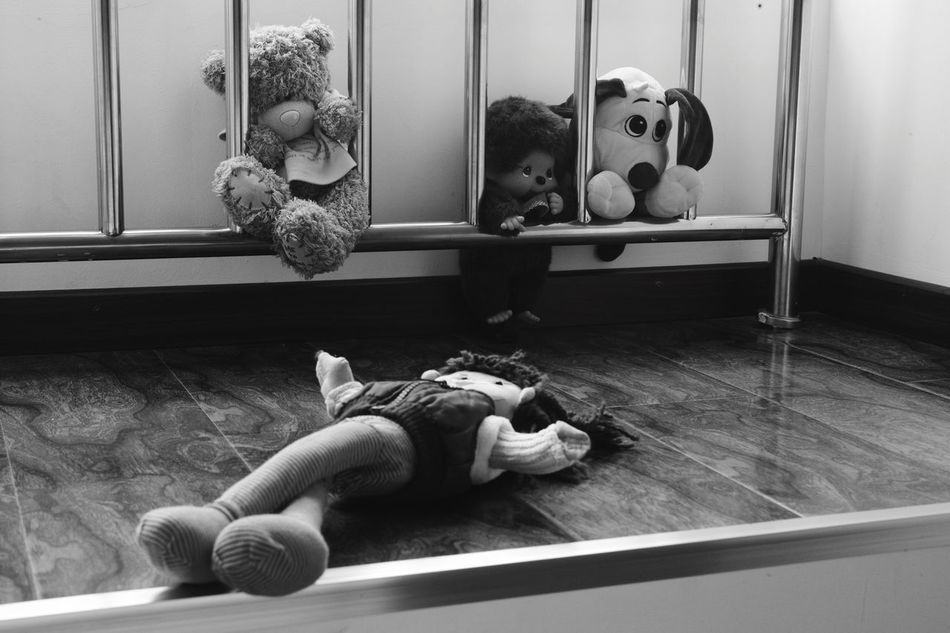 Molly's dolls Enjoying Life Beijing China Leicacamera Blackandwhite Toys Babygirl Dolls Teddybear Monkikoy