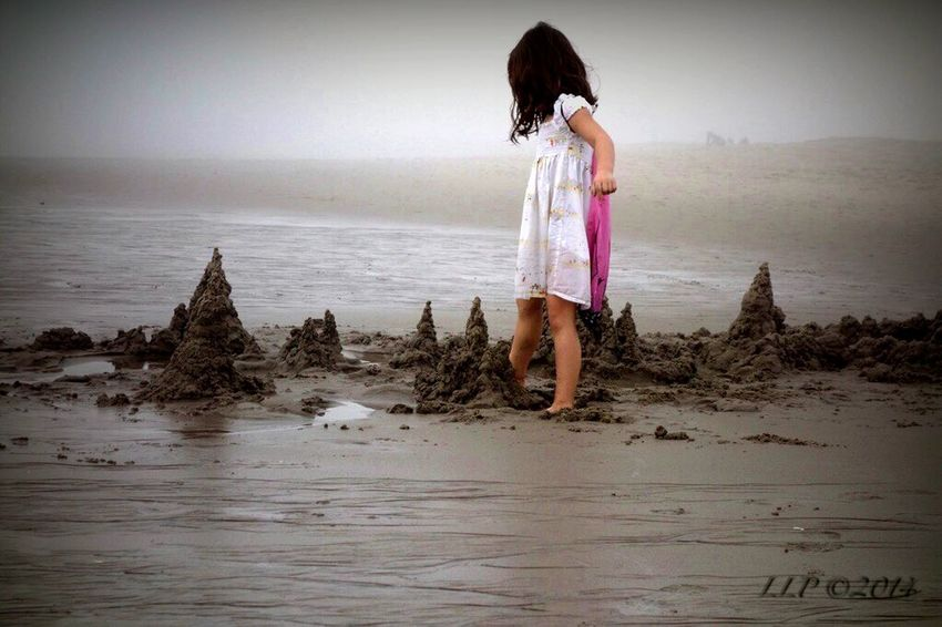 The EyeEm Facebook Cover Challenge Julia On The Beach People Beachphotography Fog Life Is A Beach Building A Sand Castle