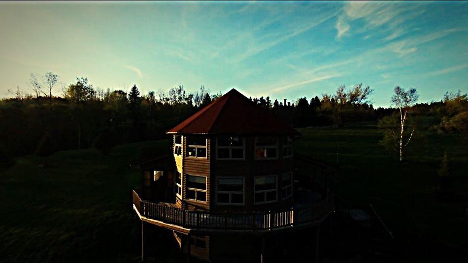 Sunset through the Drone  lense DIM GrandFolksHome