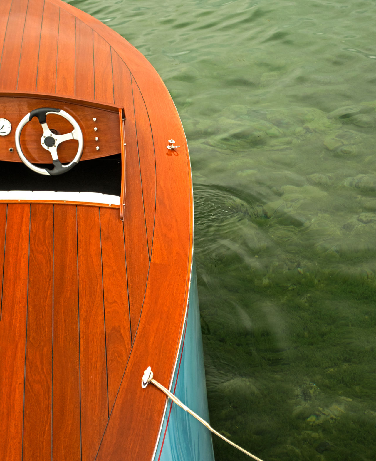 Vintage boat on a lake. Boat Boating Clear Water Cropped Day Detail Lake Lake Life Mode Of Transport Nature Nautical Nautical Vessel No People Old Boat Racing Retro Live For The Story Rope Steering Wheel Summer Transportation Vintage W Water Wooden