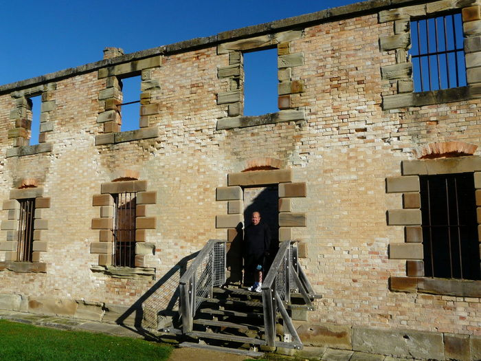 Penal Colony Ruins- Port Arthur Tasania Australia Architecture Blue Building Building Exterior Built Structure Casual Clothing Convicts Day Full Length Leisure Activity Lifestyles Old Outdoors Penal Colony Sunlight Tasmania