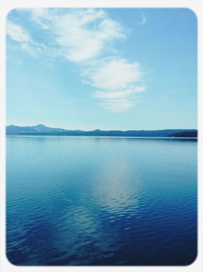 Blue Clouds Waldolake so completely gorgeous and serene Cobalt Blue By Motorola