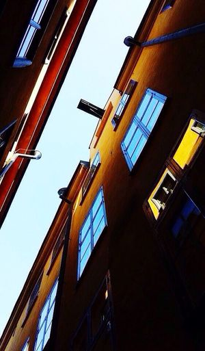 Low Angle View Building Exterior Architecture Built Structure No People Clear Sky City Outdoors Modern Day