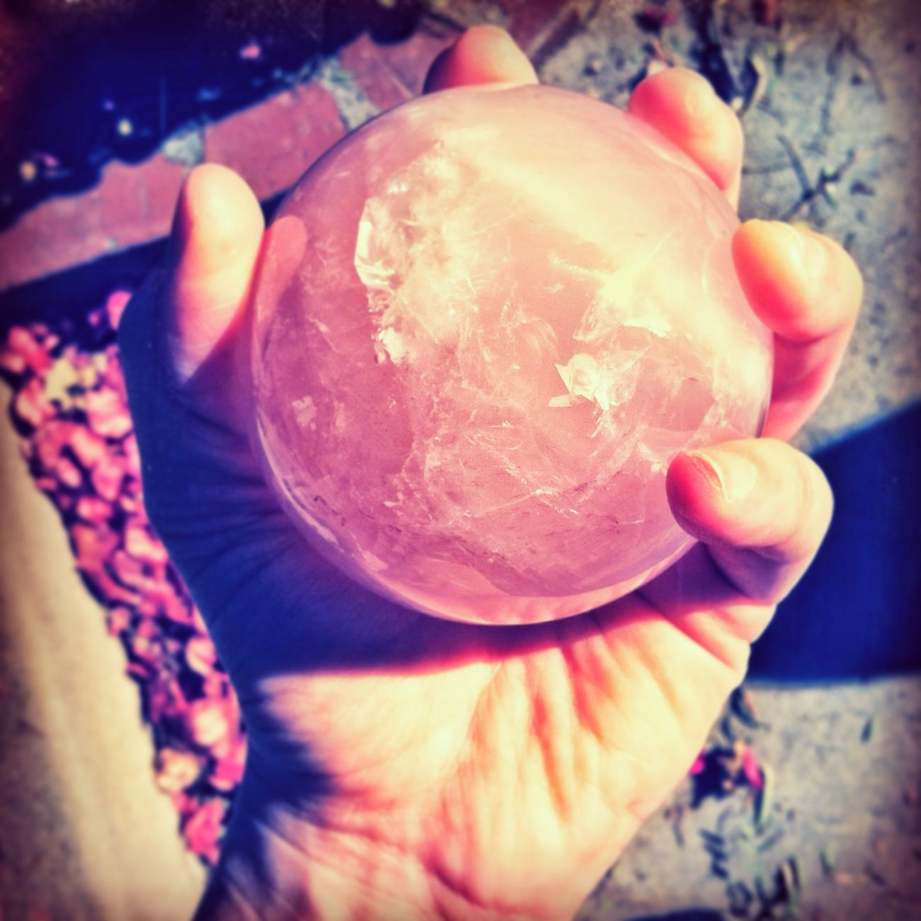 Orb Crystal Ball Rose Quartz Witch