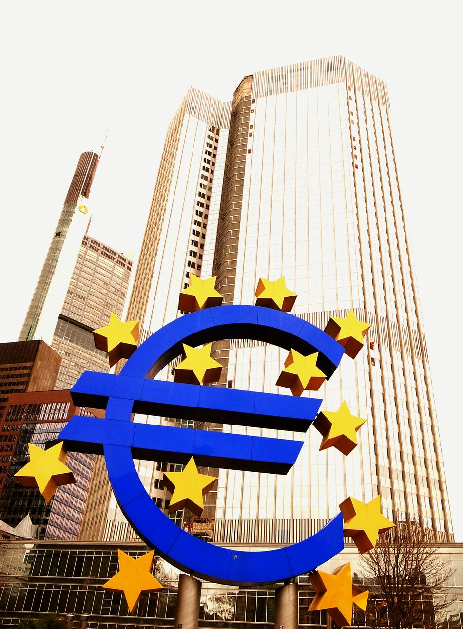 Euro Europe Landmark Money Symbol Europeanunion European Central Bank Signboard Signs Financial District