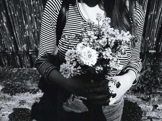 Flowers That's Me Flower Photography Blackandwhite Stripes Pattern Girl Vintage Summer