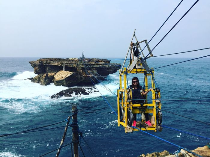 Pantai Timang Yogyakarta INDONESIA Picturesque Deepblue Ocean Andrenaline Cable Car Backpacker Solotraveler Challenge Awesome Travel Destinations Iphonephotography Peopleandplaces People And Places