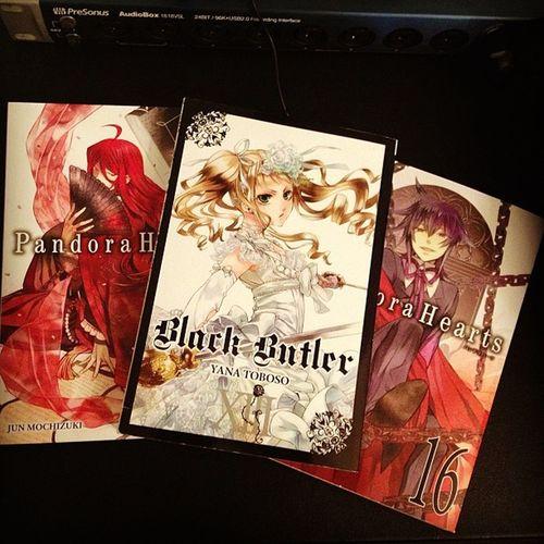 Catching up on my favoritr books. Blackbutler Pandorahearts Manga