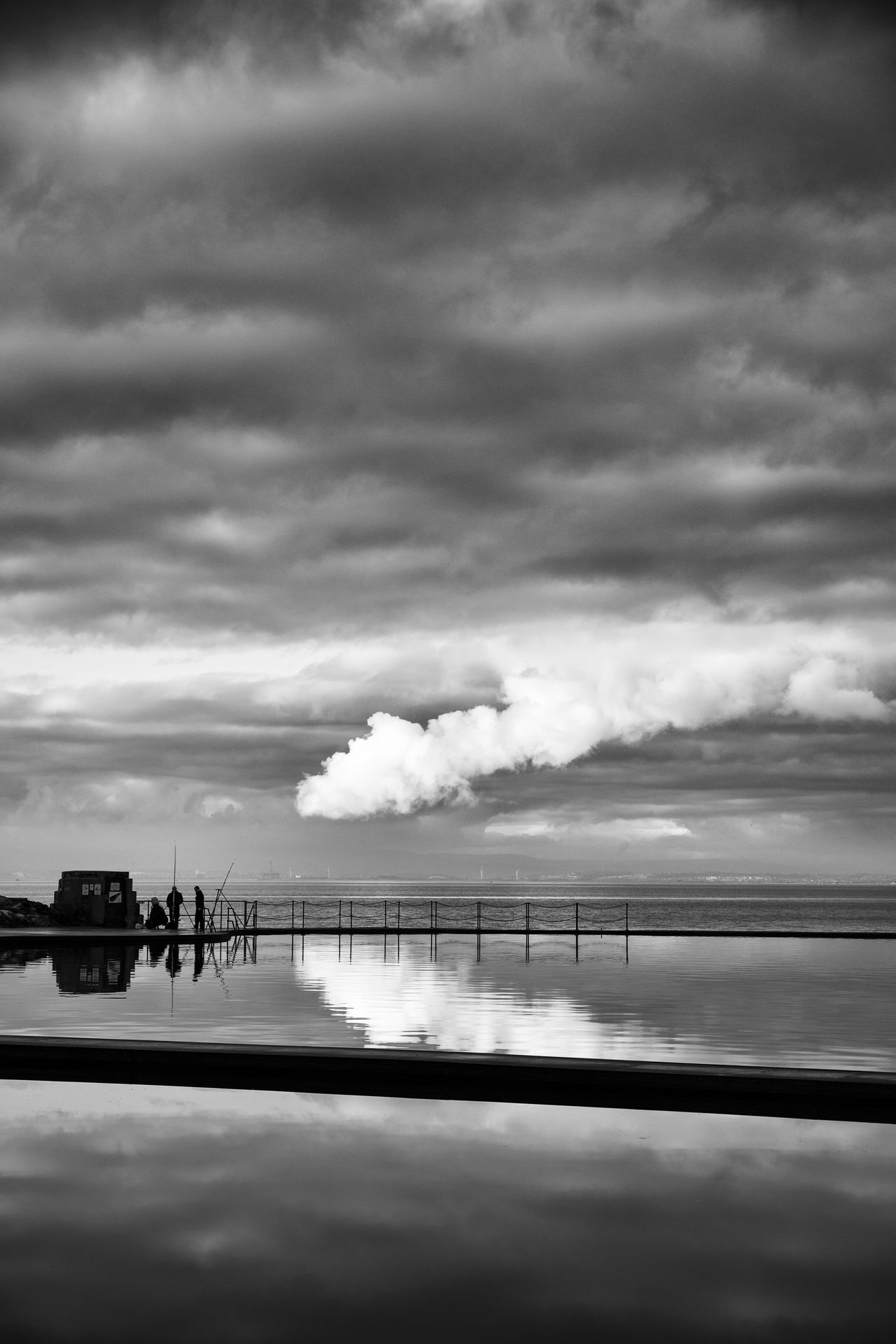 Blackandwhite Cloud - Sky Clouds Evening Fishing Monochrome Outdoors River Severn Sea Sea And Sky Seascape Seascape Photography Sony A99V Sunset Twighlight Water