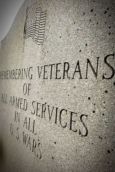 Veterans To Remember Veterans Memorial Veterans Text Archival Communication Close-up No People Outdoors Day