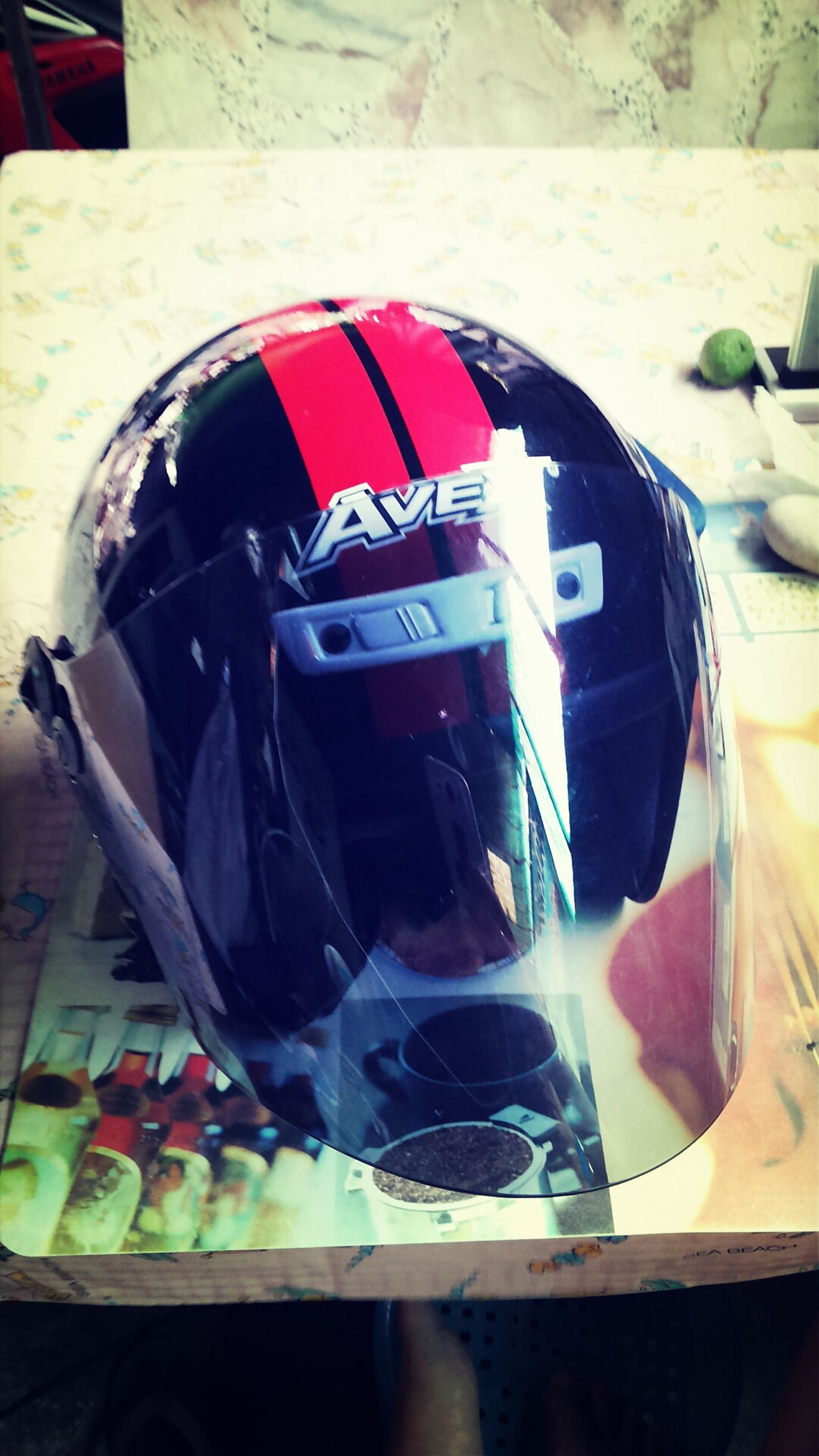 my new helmet Bike Ride Motorcycles Going For A Ride  Starting A Trip