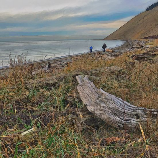 Ebey's Landing—my favorite place Nature Nature Sea Water Beauty In Nature Scenics Sky Two People Tranquility Beach Grass