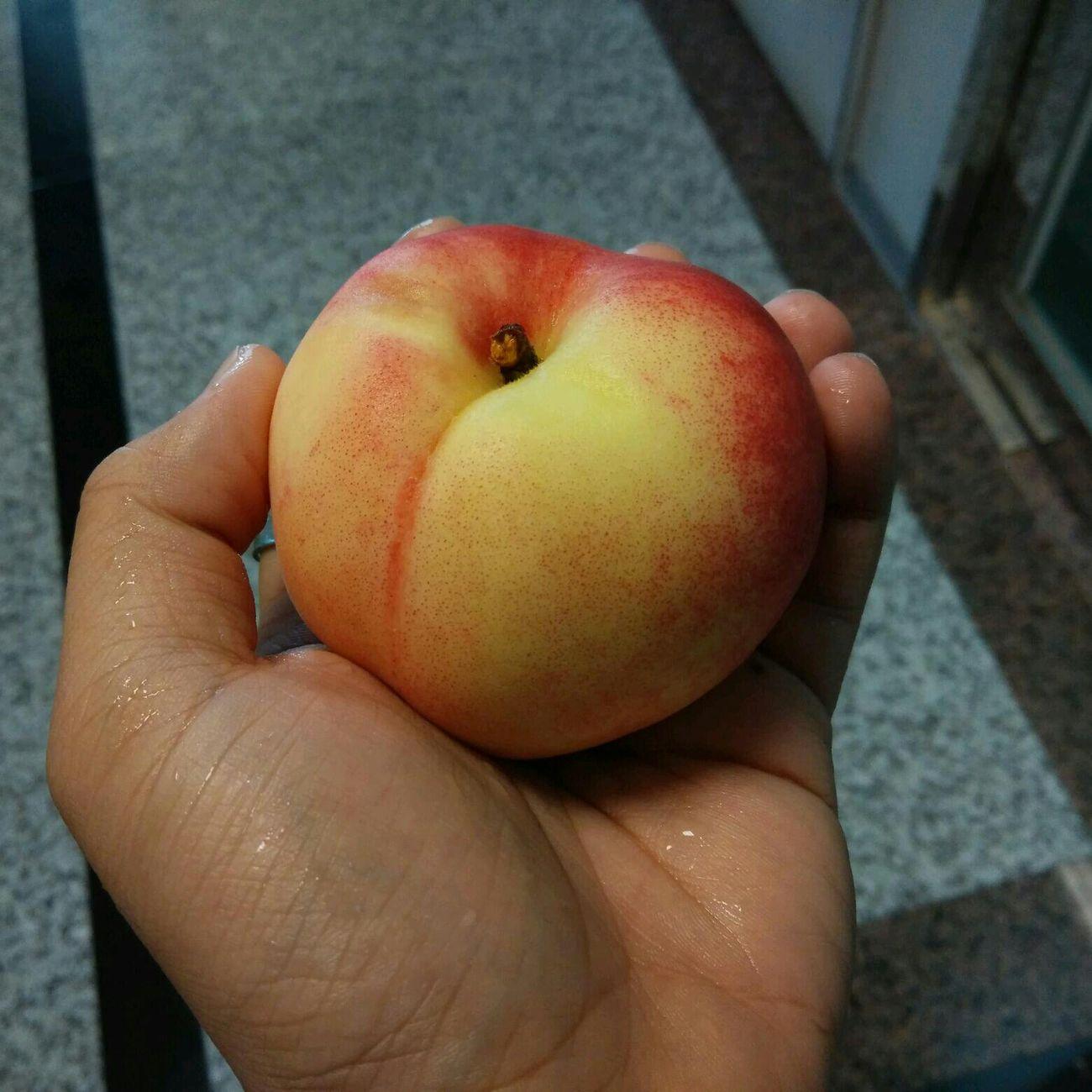 同事從拉拉山運回來的水蜜桃,好好吃唷 Food Fruit Sweet Life