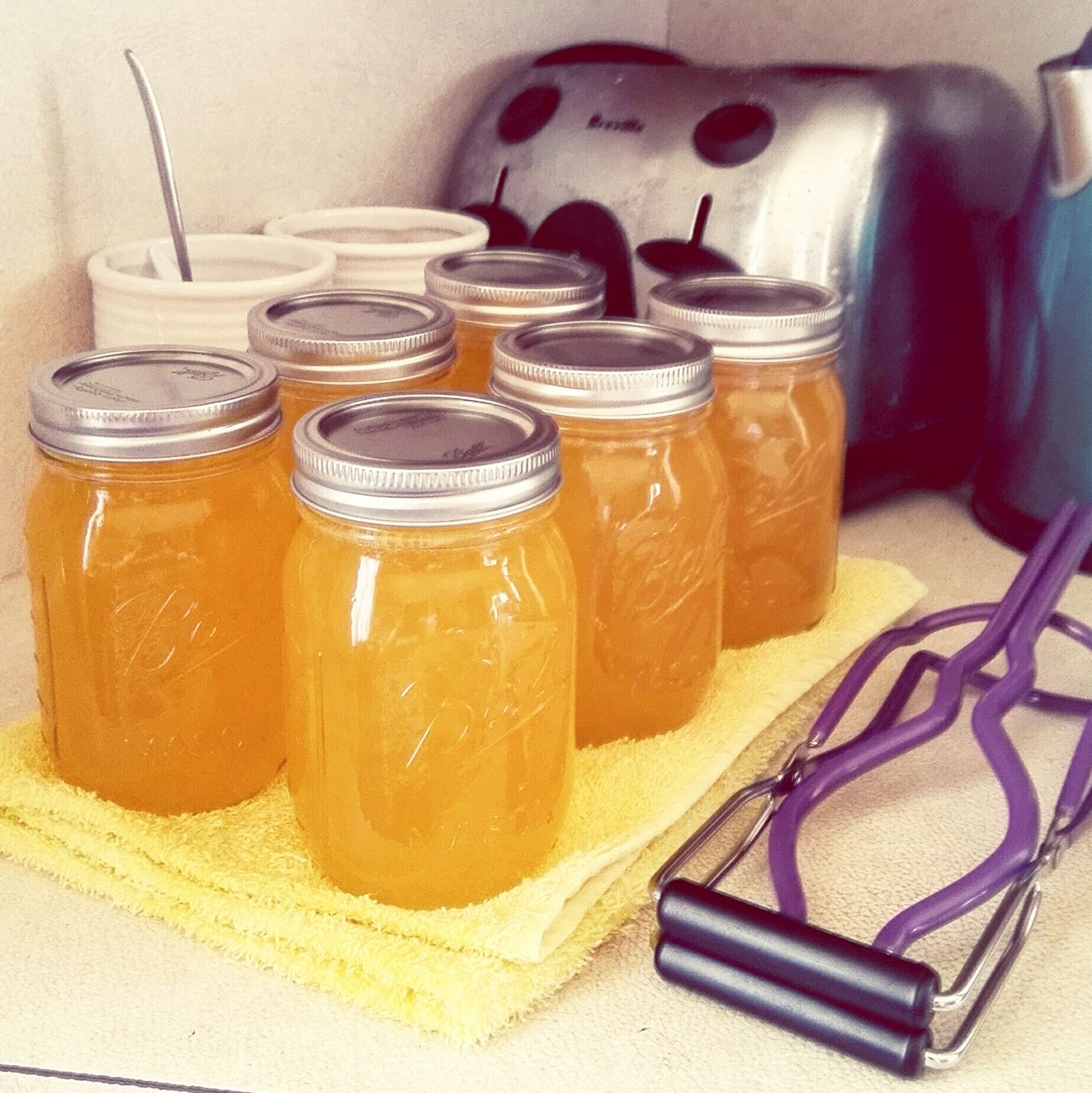 When life gives you lemons...make Lemonade. Preserving Jars Canning Jars Yellow Canning Preserving Bottling Ball Jars
