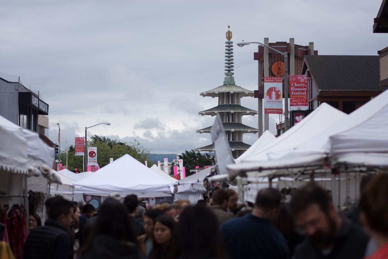 Cherry Blossom Festival Walking Around Check This Out Taking Photos Taking Pictures Streetphotography Street Photography Japantown Festival People Watching Enjoying Life No Edit/no Filter No Filter Enjoying The Moment Showcase April Enjoying Myself Clouds And Sky Cloudy Cloudy Day Cloudy Skies
