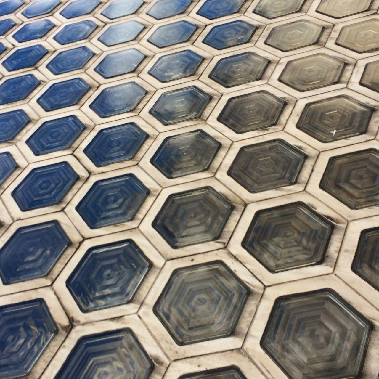 Floor Tile Pattern Glass Art