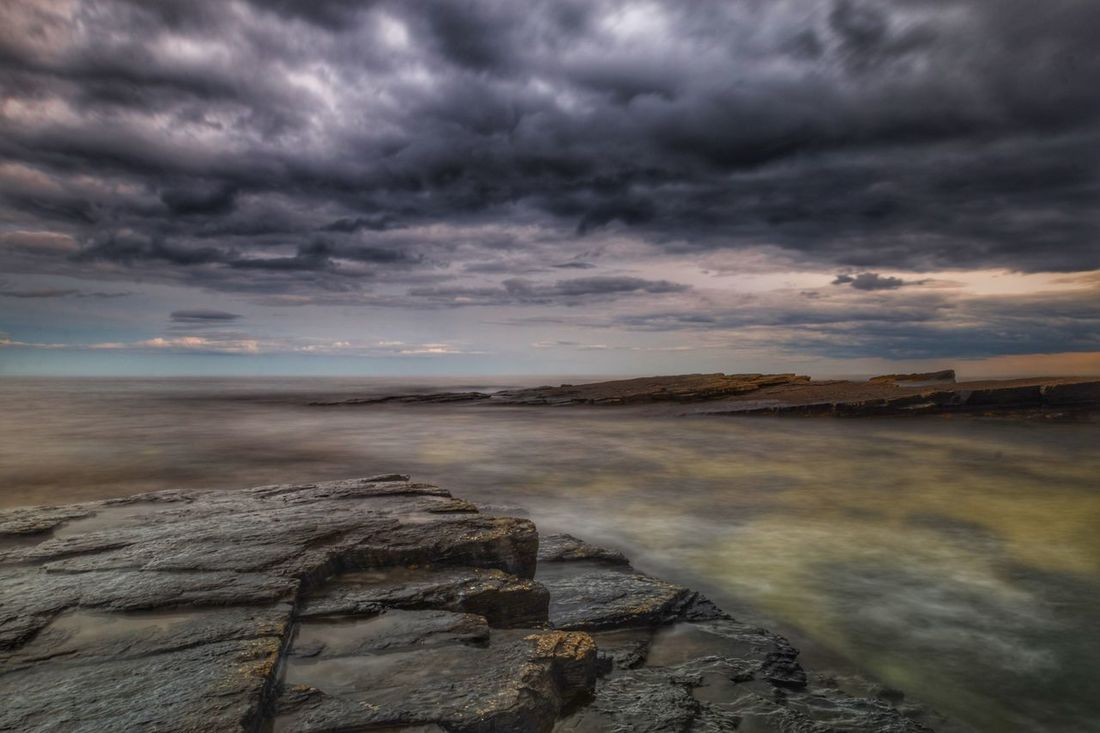Storm Brewing Cloud - Sky Beauty In Nature Nature Sky Scenics Tranquil Scene Sea Rock - Object Storm Cloud Landscape Horizon Over Water Day Water Ocean Northumberland Northumberland Coastline Canon Seascape The Week On EyeEm