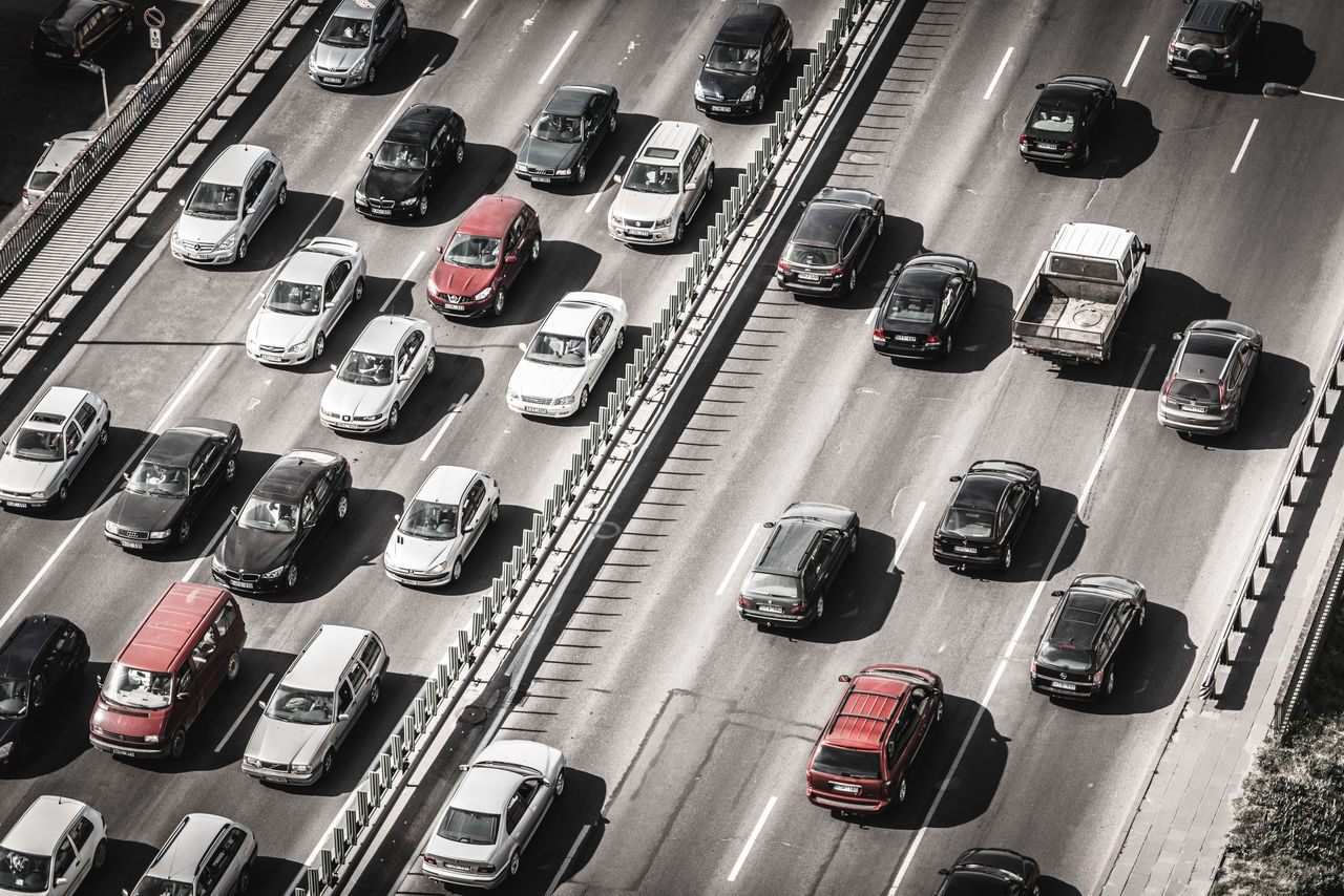 Cars Highway Traffic Transportation Traveling Home For The Holidays