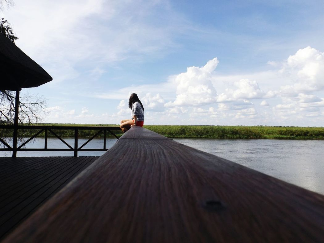 Women Around The World Cloud - Sky Sky Outdoors Day Water One Person Women Women Who Inspire You Women Power Landscape Beauty In Nature Nature Photography Naturelovers Naturelove African Beauty Fujifilm Daytime Okavango River