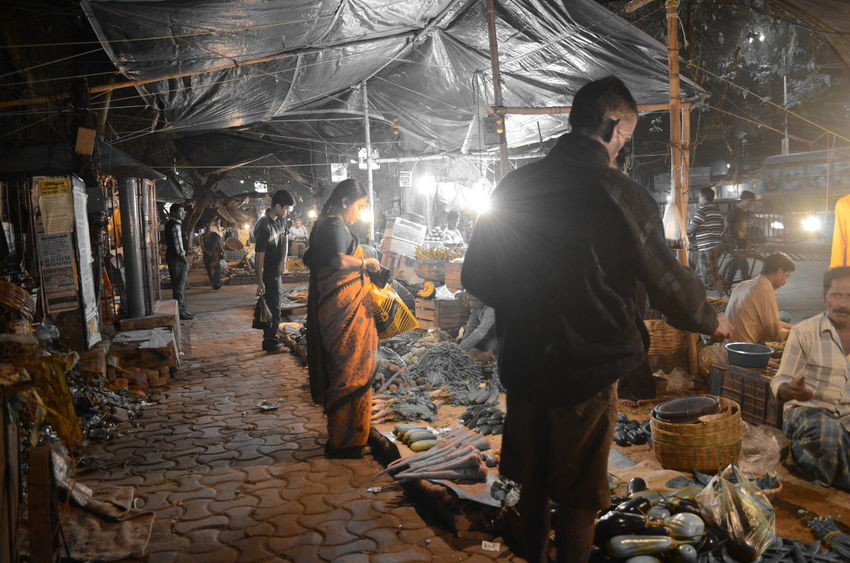 Abundance Enjoyment Happiness Large Group Of Objects Large Group Of People Learn & Shoot: After Dark Leisure Activity Lifestyles Market Market Stall Men Occupation Real People Retail  Standing Variation Women Selective Color Pastel Power
