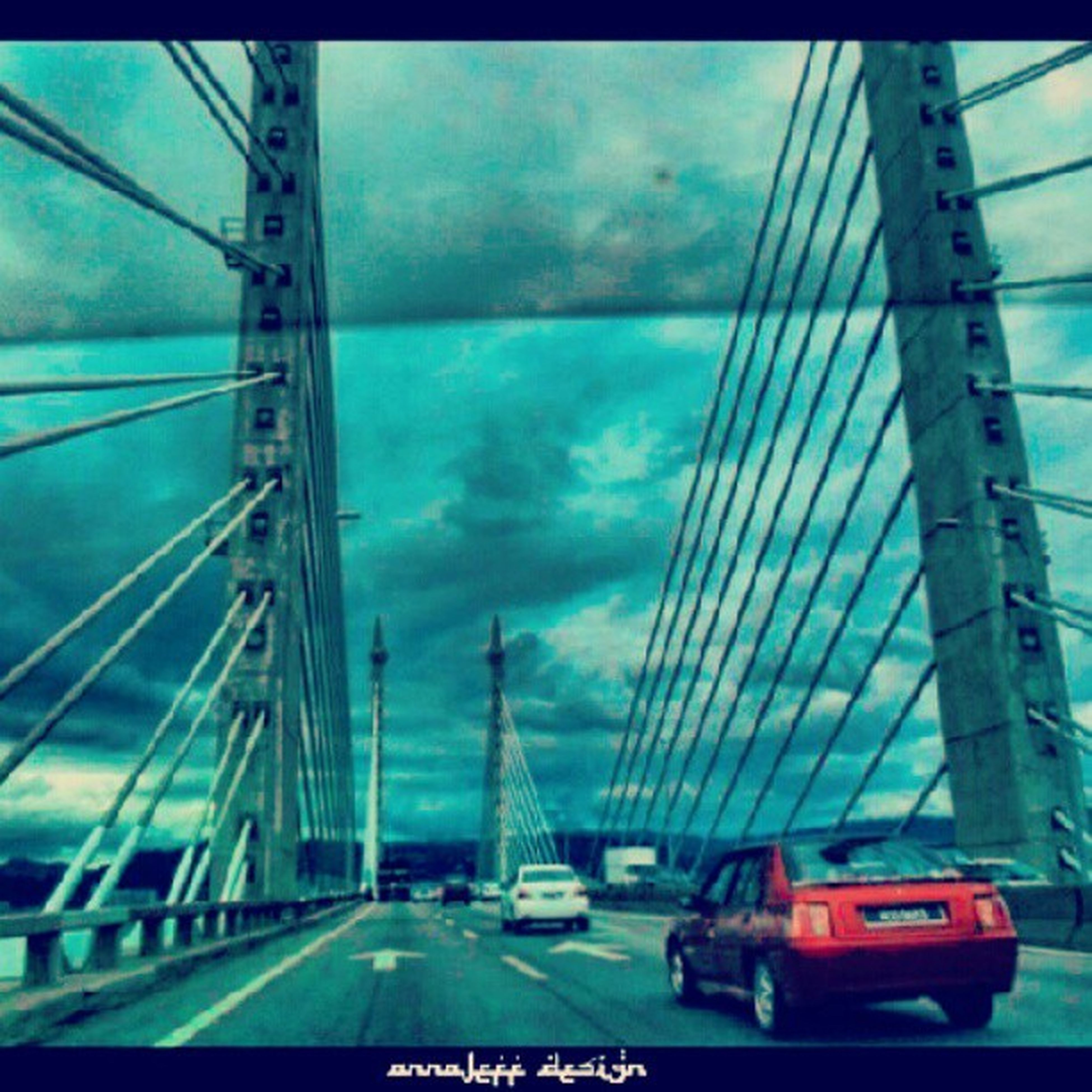 transportation, bridge - man made structure, mode of transport, architecture, connection, car, built structure, engineering, land vehicle, sky, road, travel, city, the way forward, bridge, suspension bridge, cloud - sky, travel destinations, diminishing perspective, highway