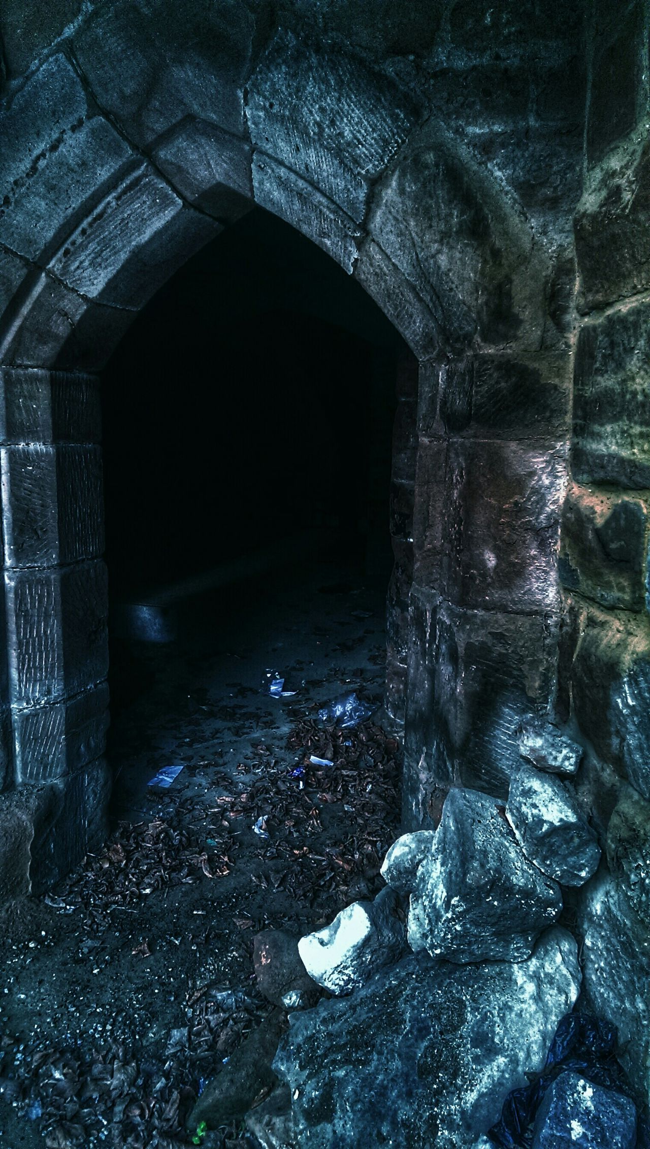 Journey Into The Dark There Something Behind The Door Something In The Darkness Look Into The Darkness  Old Buildings Arch Sandstone Spooky Atmosphere Spirits Within Ghostly