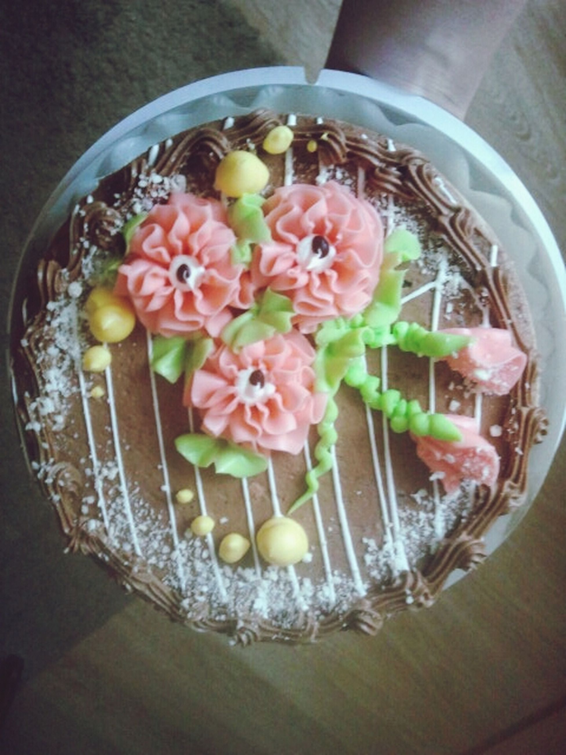 indoors, food and drink, food, freshness, table, sweet food, still life, plate, ready-to-eat, dessert, indulgence, high angle view, decoration, temptation, bowl, unhealthy eating, cake, fruit, close-up, serving size