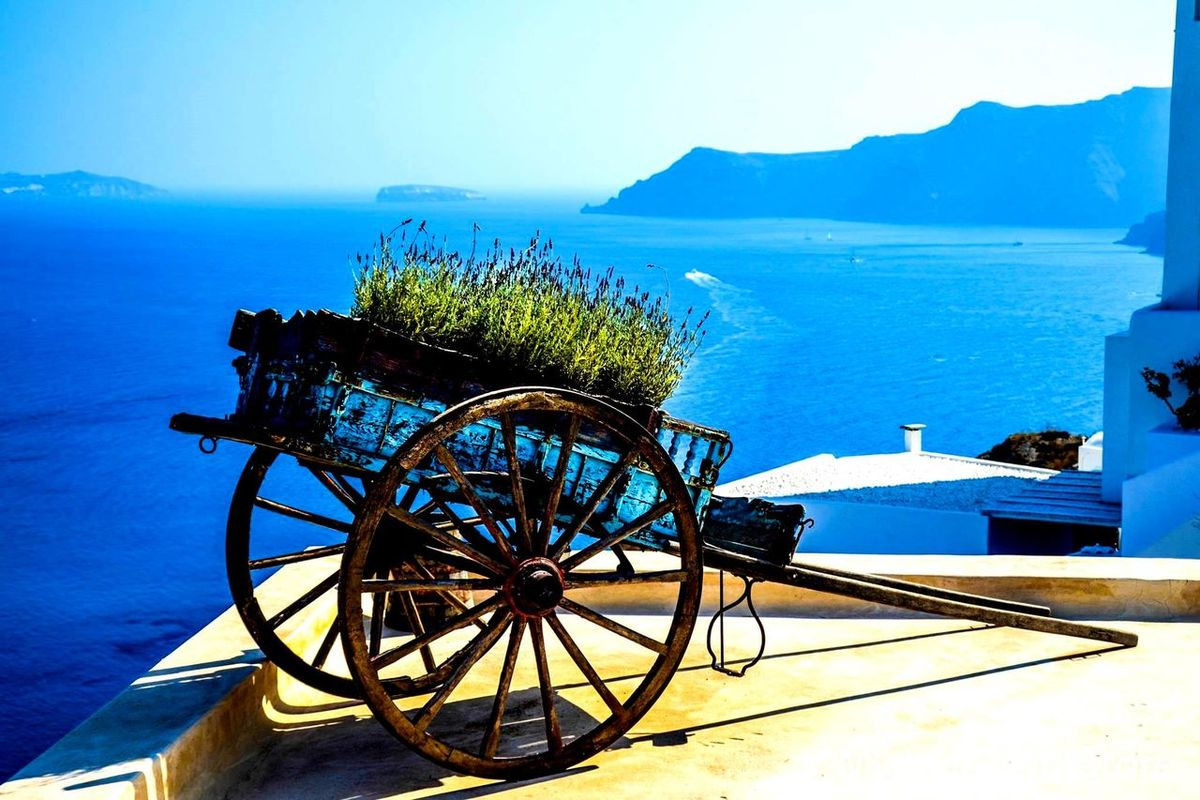 #santorini Beauty In Nature Blue Day Horizon Over Water Nature No People Outdoors Scenics Sea