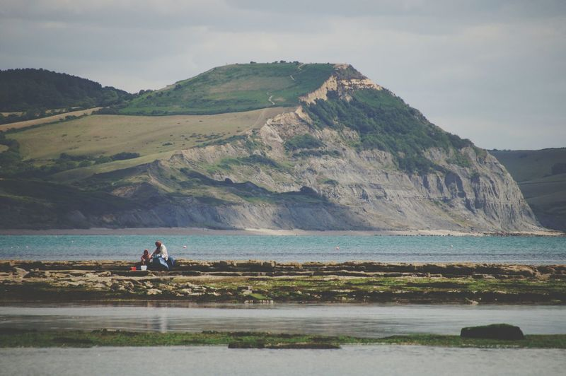 Hanging Out Taking Photos Sea And Sky People Landscape_Collection Seeking Shells Cliffs Cliffside Reflections Southengland Sitting Outside Nice Atmosphere Relaxing Moments Enjoying Life Enjoying Nature Landscapes With WhiteWall