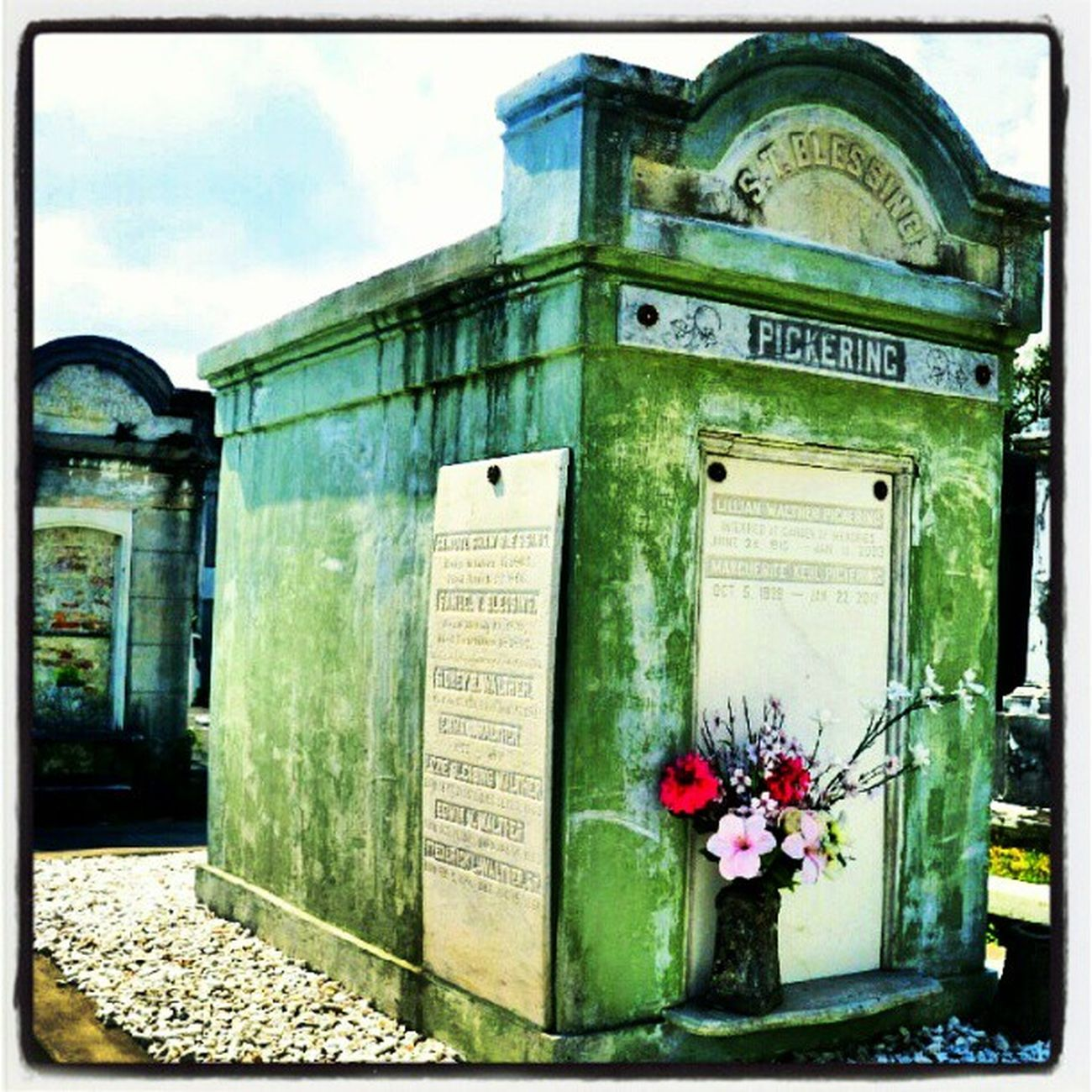 Pickering. #green #mausoleum #marble #neworleans #nola #grief #grave #tomb #tombstone #cemetery #saveourcemeteries #lafayettestreetcemetery Tomb Neworleans Saveourcemeteries Lafayettestreetcemetery Green Cemetery Grief Mausoleum Tombstone Marble Grave NOLA