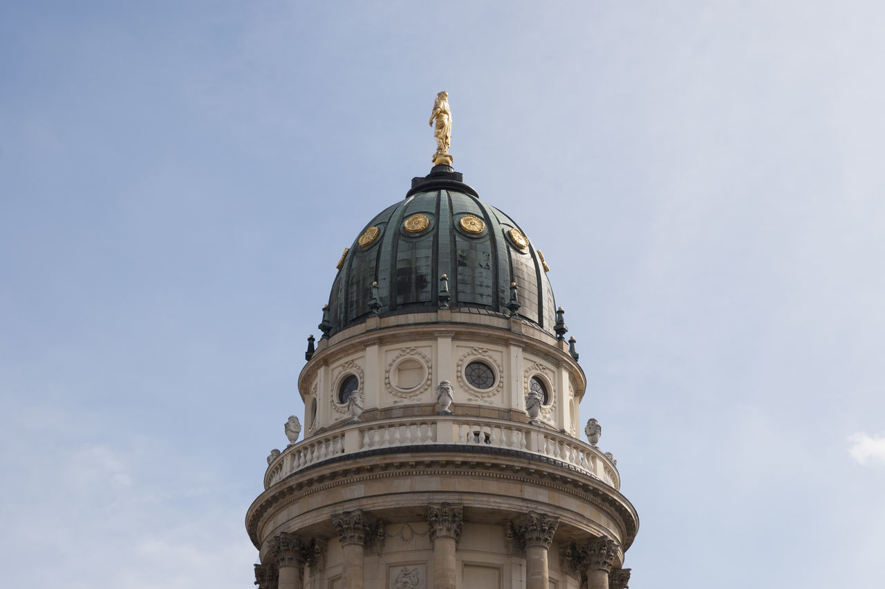 Architecture Berlin Built Structure Cathedral City Cityscape Day Dome Europe Gendarmenmarkt Germany Historic Historical Building Historical Sights History Low Angle View No People Outdoors Sky Travel Travel Destinations