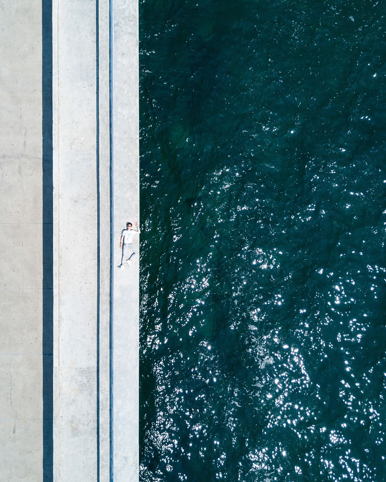 from above 🚁 🕹️ water sea high angle view The Week on EyeEm dji minimalism travel destinations eyemphotography TheWeekOnEyeEM minimalistic dronephotography eyemphotos greece Drone eyem best shots droneshot EyeEm Selects mavic pro one person minimal eyem mix yourself a good time
