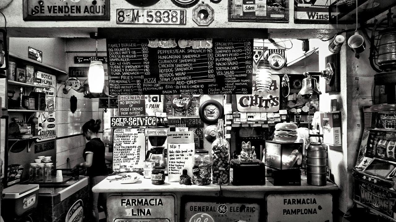 Mama Chits Marikina Eyem Philippines Black And White Hamburger Going Back In Time