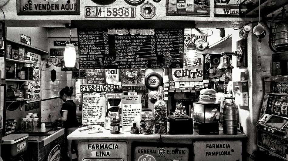 Mama Chits Marikina Eyem Philippines Black And White Hamburger Going Back In Time
